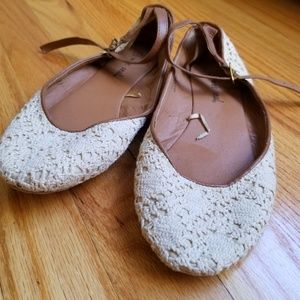 ** Wet Seal Crochet Flats
